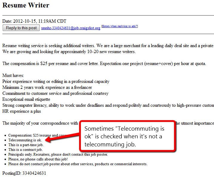 Finding Legitimate Jobs on Craigslist 3