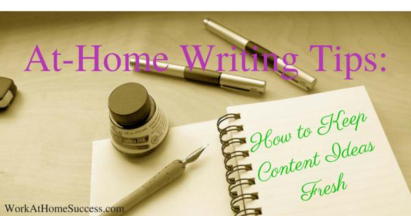 At-Home Writing Tips-