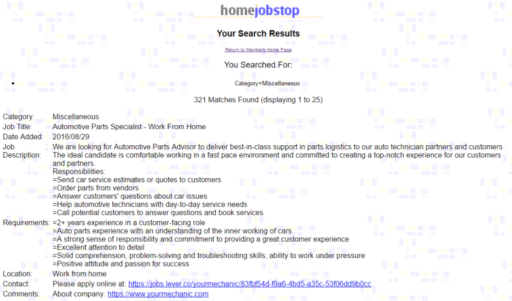 Home Job Stop