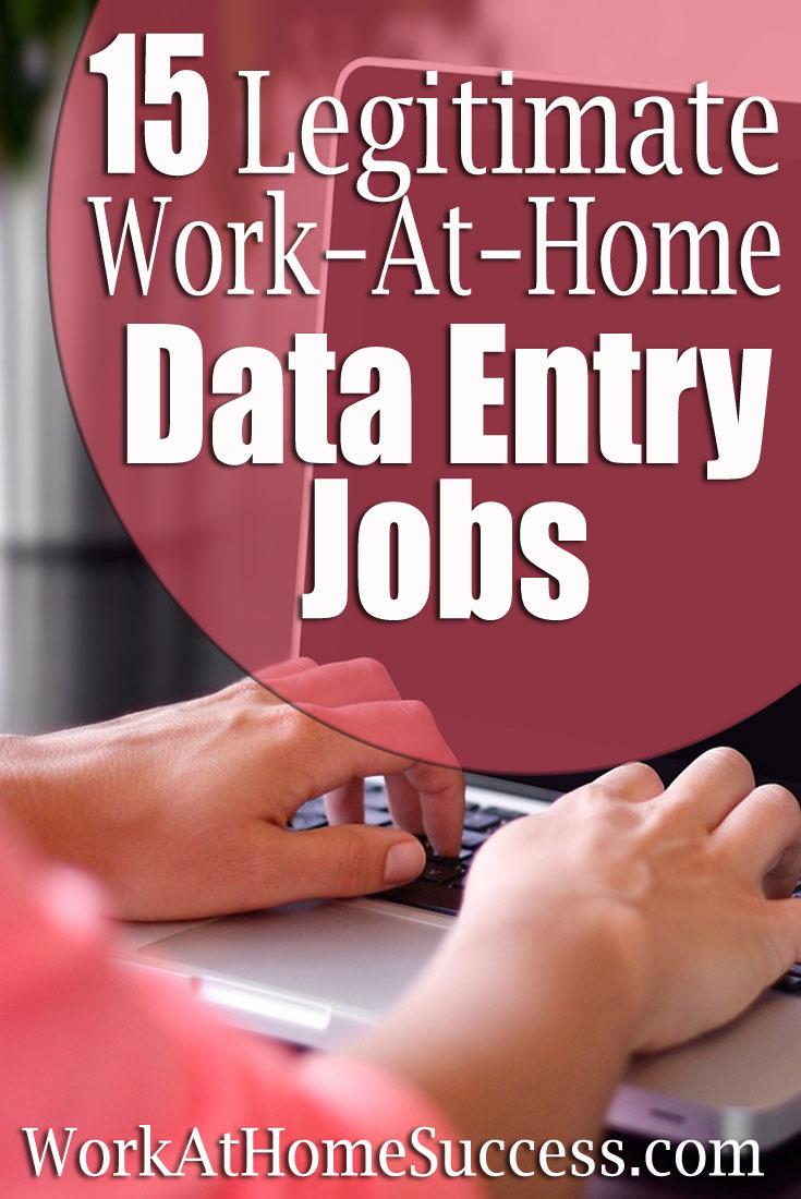 15 Legitimate Work-At-Home Data Entry Jobs