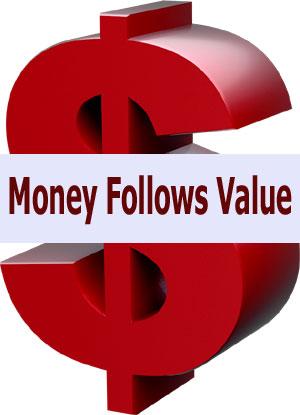 Money Follows Value