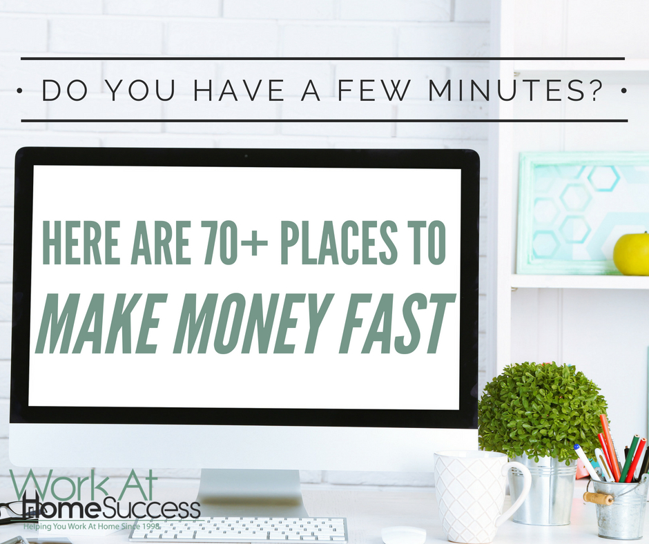 70+ Places to Make Money Fast