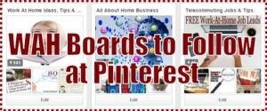 WAH Boards to Follow at Pinterest