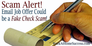 Work At Home Fake Check Scam