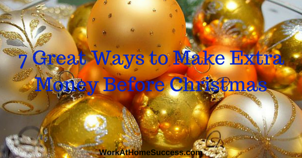 7 Great Ways to Make Extra Money Before Christmas