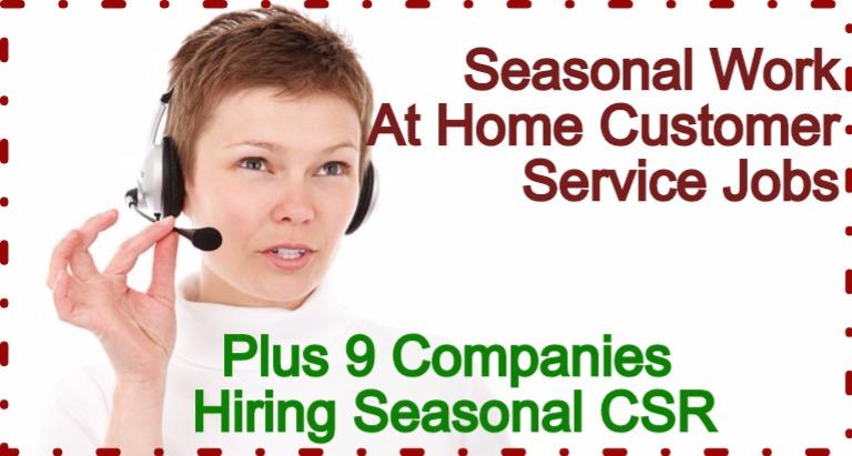 Seasonal Work-At-Home Customer Service Jobs