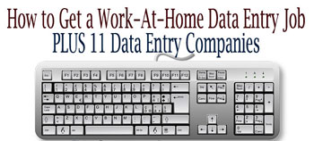 Work-At-Home Data Entry Jobs