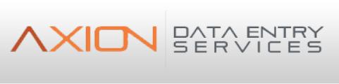 Axion Data Entry Job