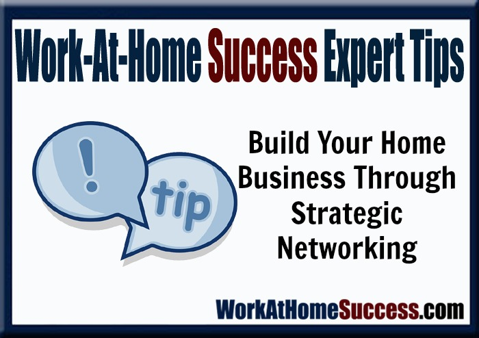 Work-At-Home Success Expert Help: Build Your Home Business Through Strategic Networking