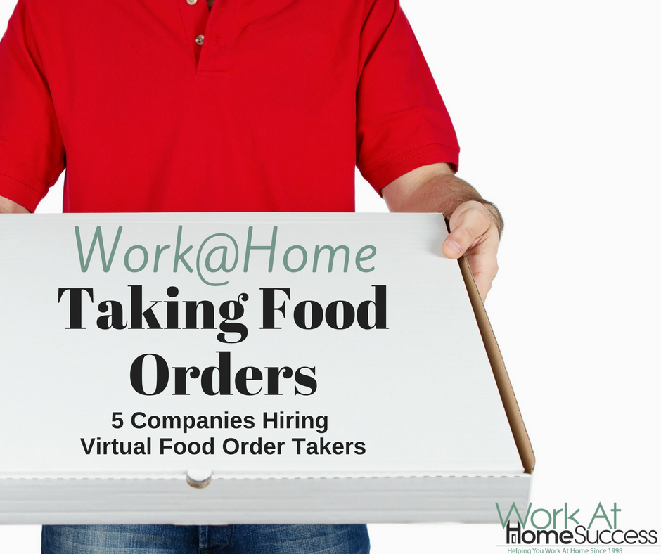 work at home taking food orders