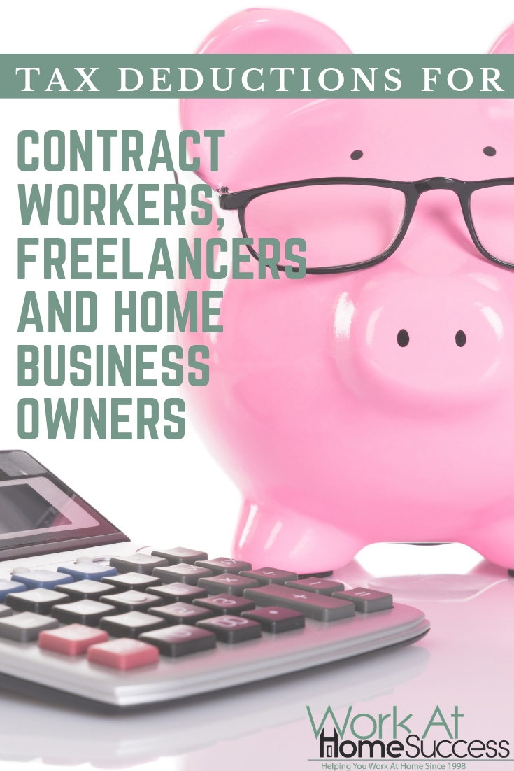 Find out what work at home expenses you can and cannot deduct on your taxes for contractors, freelancers and home business owners. #taxdeductions #workathome #selfemployedtaxes
