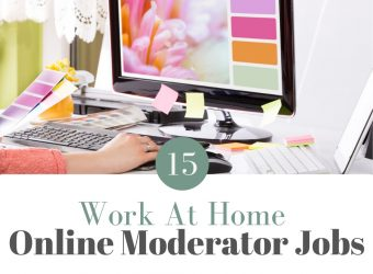 15 Work At Home Online Moderator Jobs