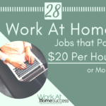 28 Work At Home Jobs that Pay $20 Per Hour or More