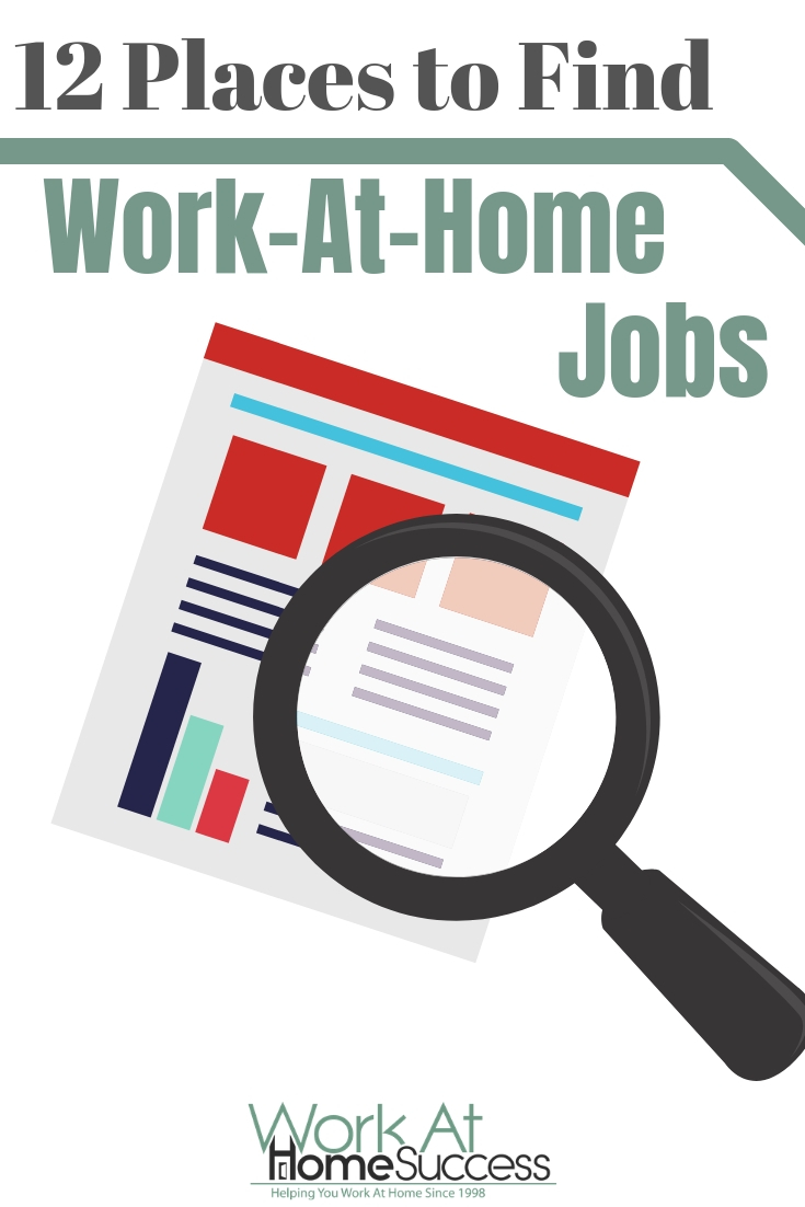 Looking for places to find legitimate work-at-home jobs? Here are 12 reliable resources to search for work from home jobs.  #workathome #telecommute #remotework