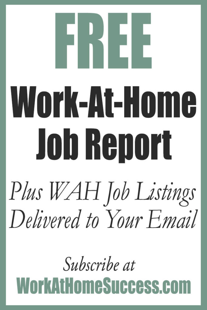 Free work-at-home job report at Work-At-Home Success