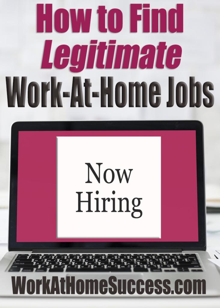 how to find legitimate work