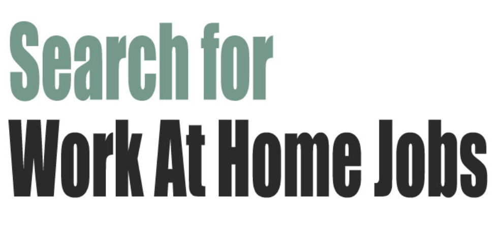 Free work-at-home job search