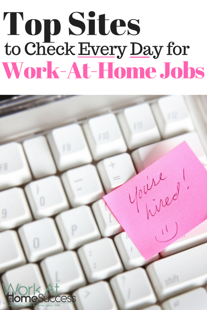Top Sites to Check Every Day for Work-At-Home Jobs