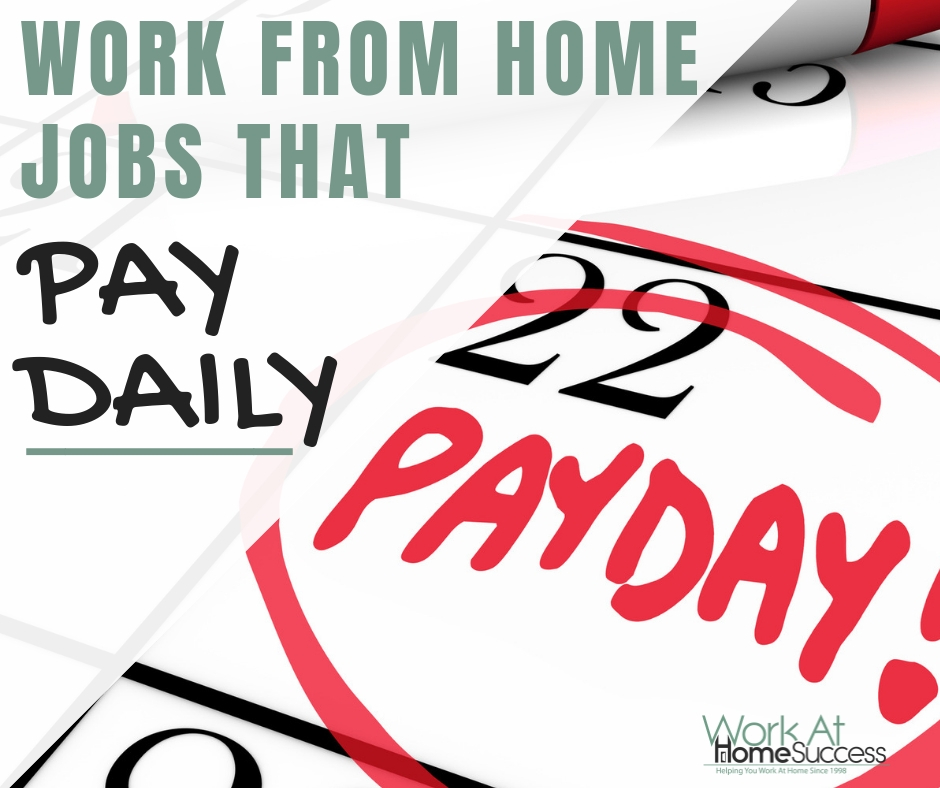14 Work from Home Jobs that Pay Daily