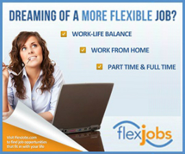 Search for Work-At-Home Jobs at FlexJobs
