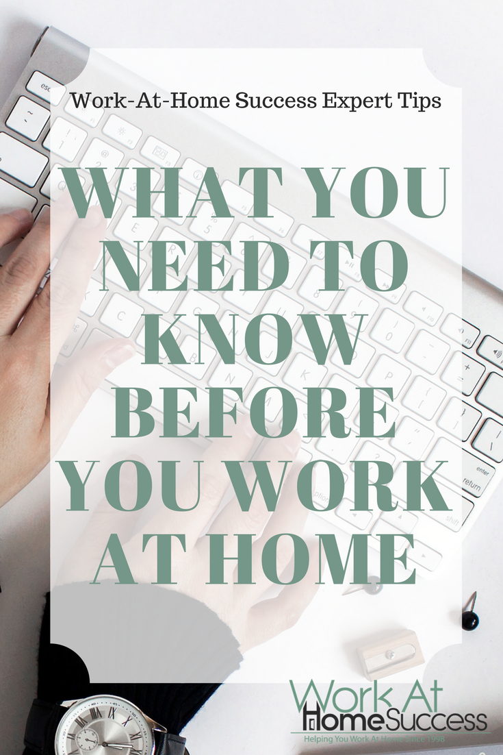 What You Need to Know Before You Work At Home