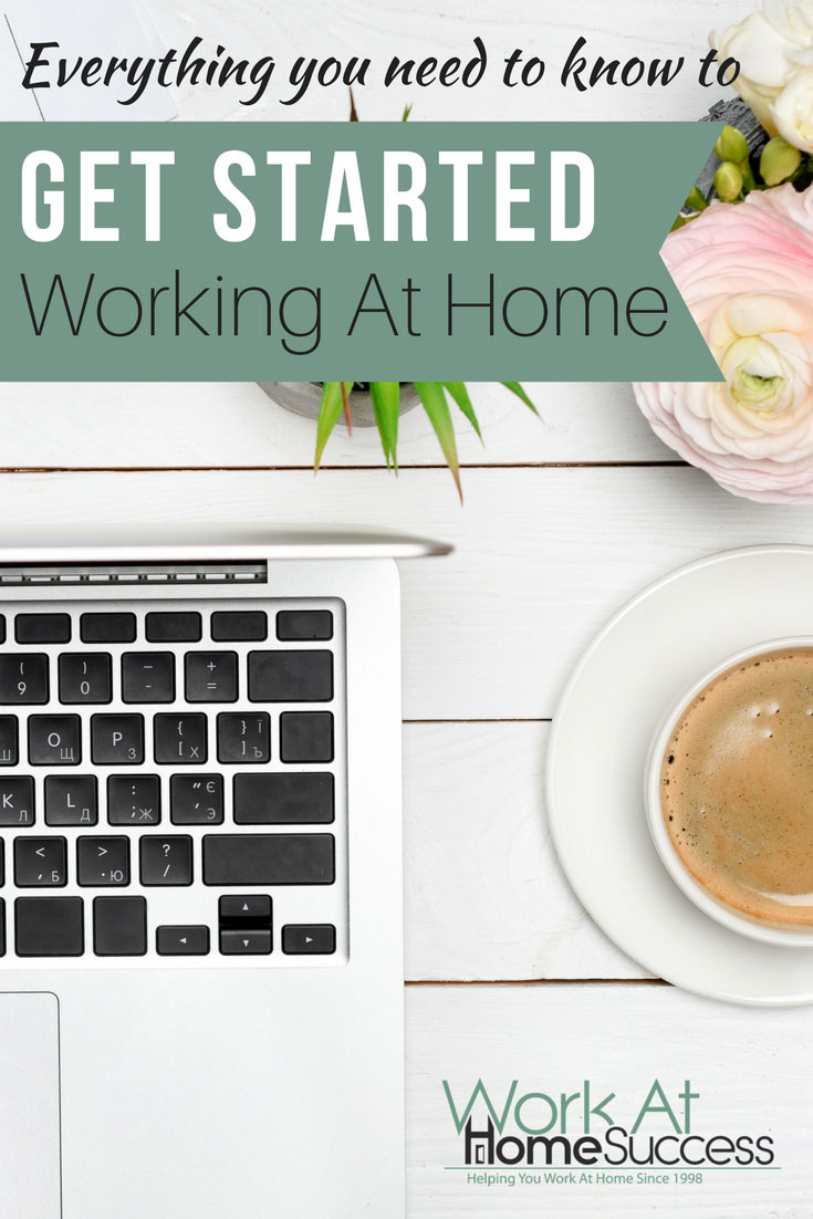 Ready to work at home? Get the information you need and the steps to take to get a work at home in a job, start a home business, begin freelancing, make money online and more! #workathome #telecommute #homebiz