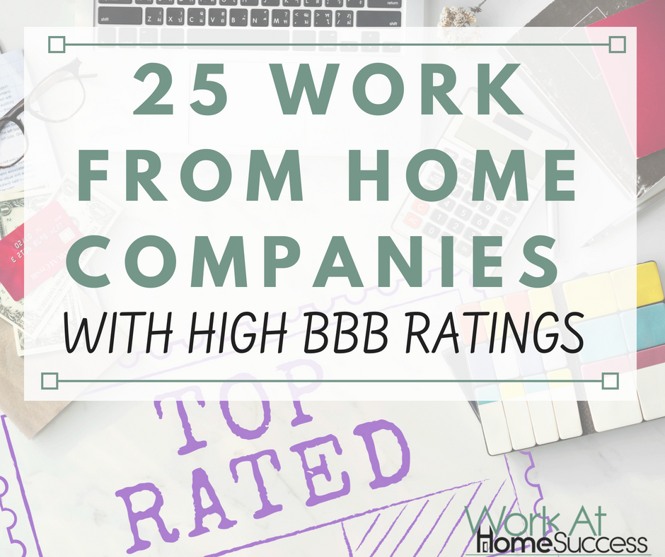 25 Work From Home Companies with High BBB Ratings