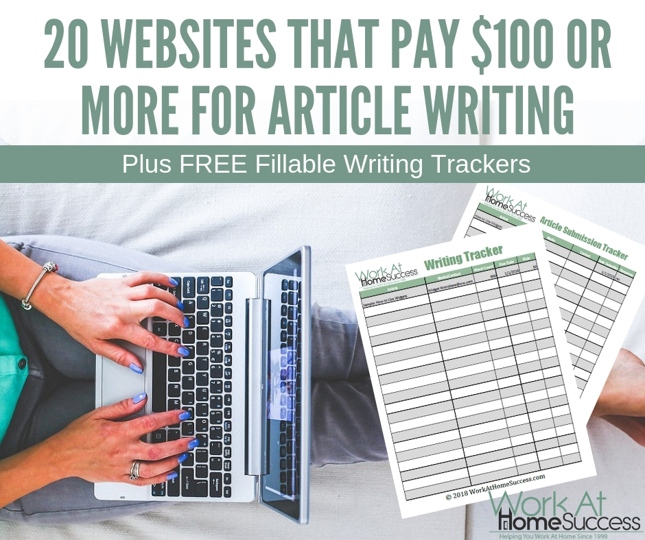 20 Websites that Pay $100 or More for Article Writing