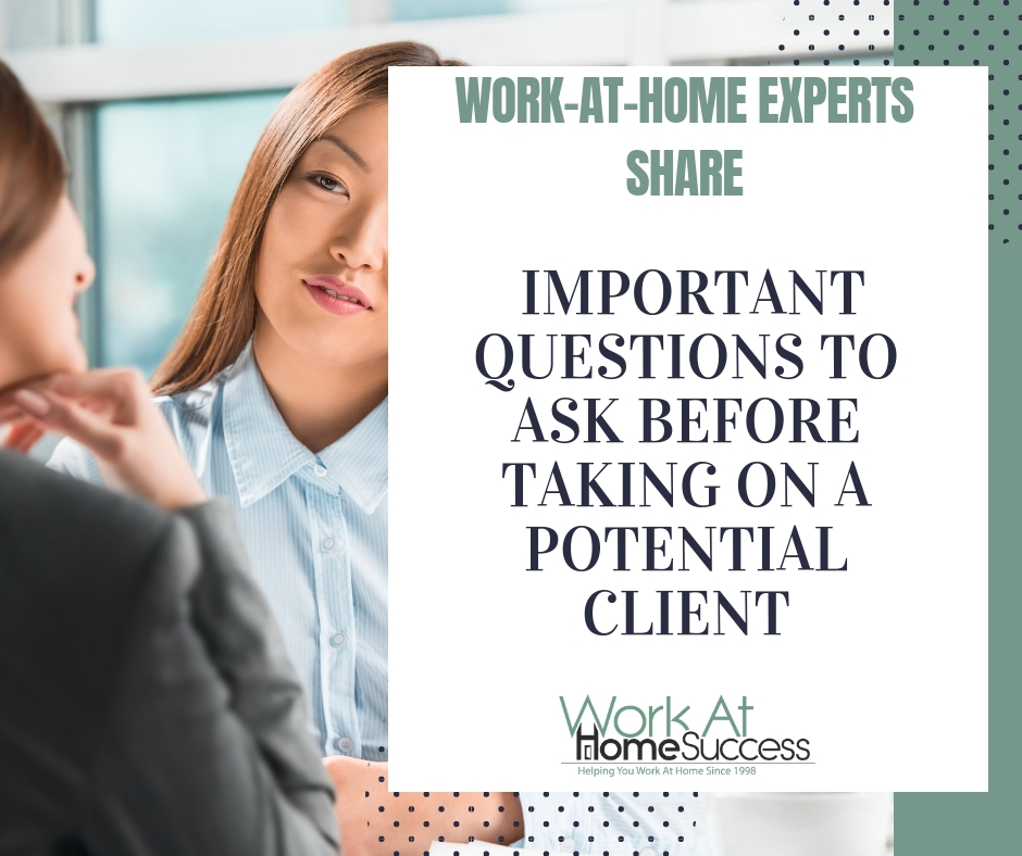 Important Questions To Ask Before Taking On A Potential Client