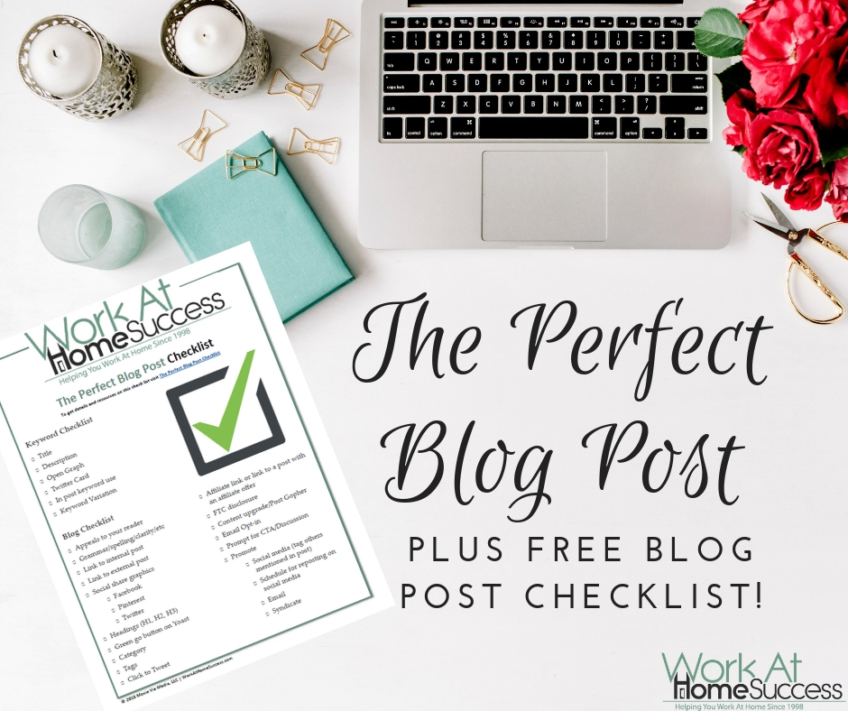 The Perfect Blog Post plus free checklist