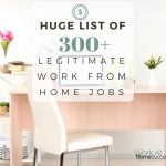 Huge List of 300+ Legitimate Work from Home Jobs