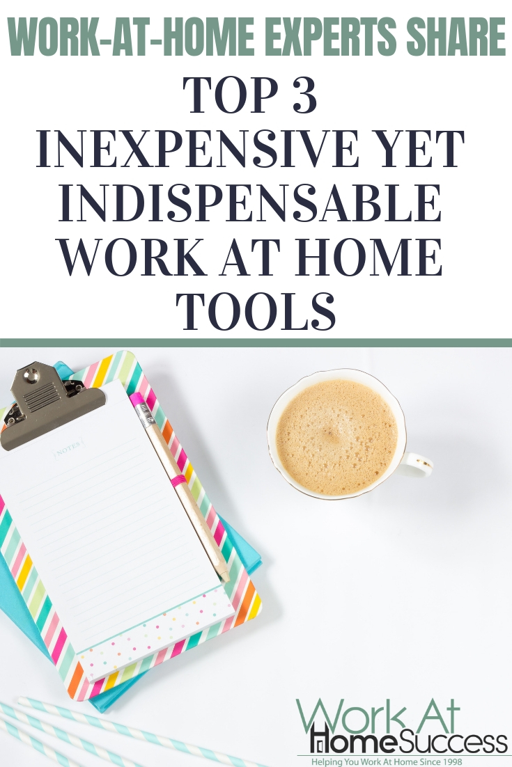 Work at home experts share their top 3 tools they can't work from home without. Do you use any of these?  #workathome #productivity #homeoffice