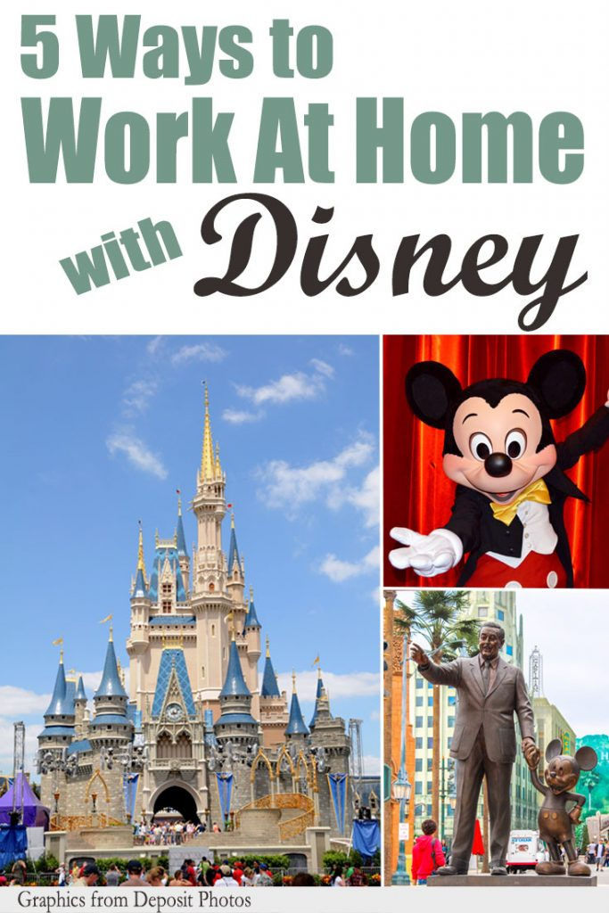 Five ways you can work at home with Disney including, work at home jobs at Disney
