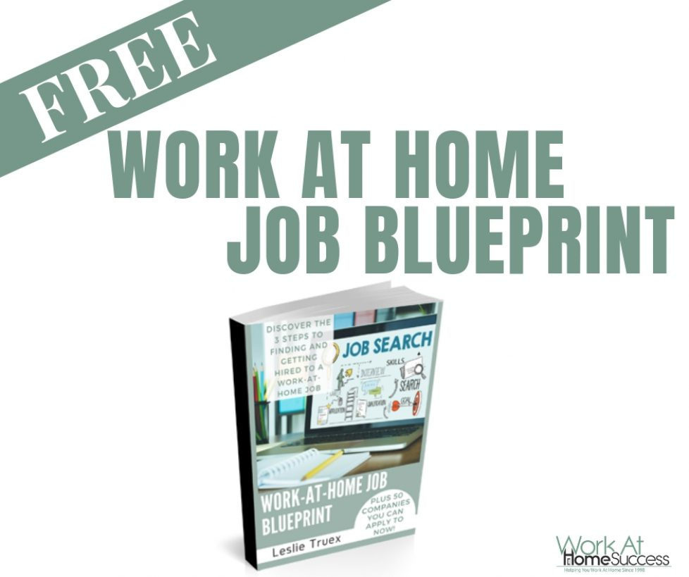 Free Work At Home Job Blueprint