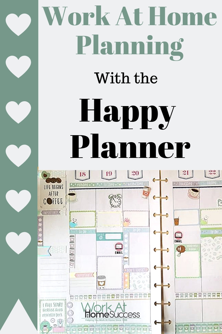 Work At Home Planning Using the Happy Planner: How I set up my Happy Planner, and use it to organize all my work and to-dos, in a master plan.  #happyplanner #planner #productivity