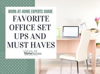 Favorite Office Set Ups and Must Haves While Working From Home!