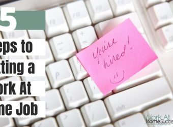 5 Steps to Get a Free Work-At-Home Job